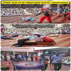 Swachhata Hi Seva 2019 - employees of Cochin Port Trust staged the street play on 'the menace of plastic waste' (01.10.2019)
