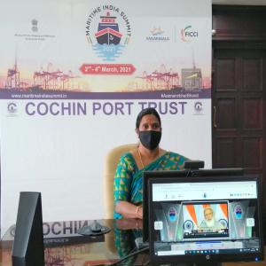 Witnessing the Inauguration of the virtual Maritime India Summit by Hon'ble PM
